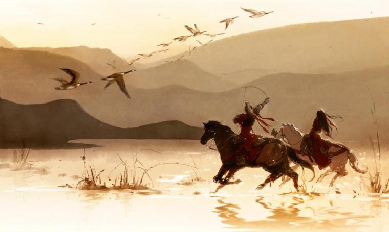 Thành Ân Châu được bao quanh bởi sông Địch Trần, từ xưa đến nay luôn là chốn đóng quân của danh môn chính phái võ lâm, tổng đàn võ lâm Lăng Vân Minh cũng vậy. Sông Địch Trần trong vắt gợn sóng ngày đêm lững lờ trôi, dường như muốn gột sạch gió tanh mưa máu chốn giang hồ, để lại trái tim của võ lâm Trung Nguyên yên bình lẳng lặng đứng dưới chân núi Kỳ Lân, làm bạn với dòng Địch Trần.