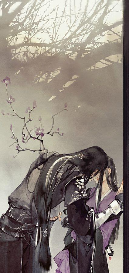 hắn bỏ lại ánh sáng như ban ngày, bước vào trong bóng tối của nàng, cúi đầu hôn nàng.